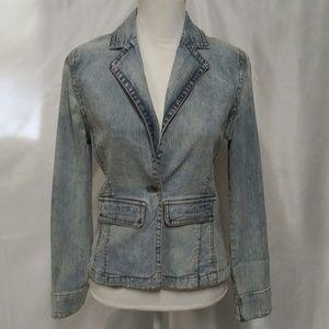 Guess Vintage 80's Light Wash Blue Jean Jacket